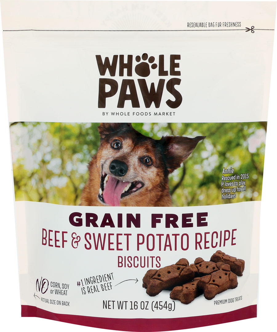 Product image of Whole Paws Beef & Sweet Potato Recipe Biscuits