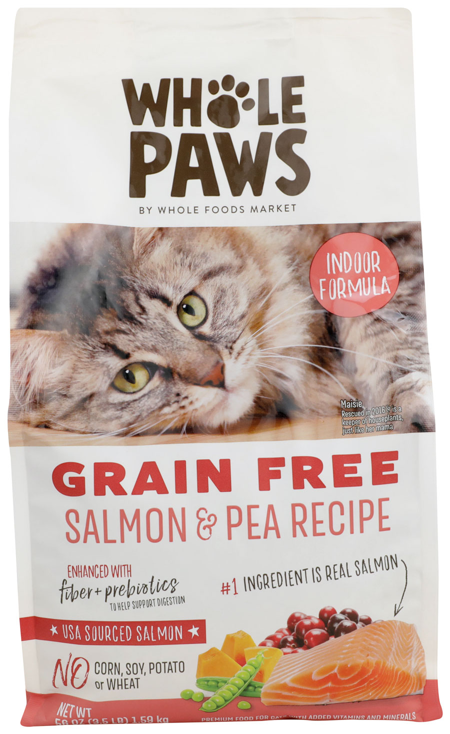 Prodcut images of Whole Paws Indoor Salmon & Pea Recipe