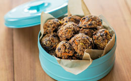 Carrot walnut cookies