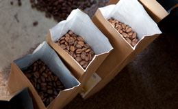 coffee beans from local supplier