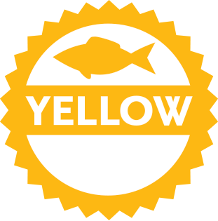 Yellow rating logo