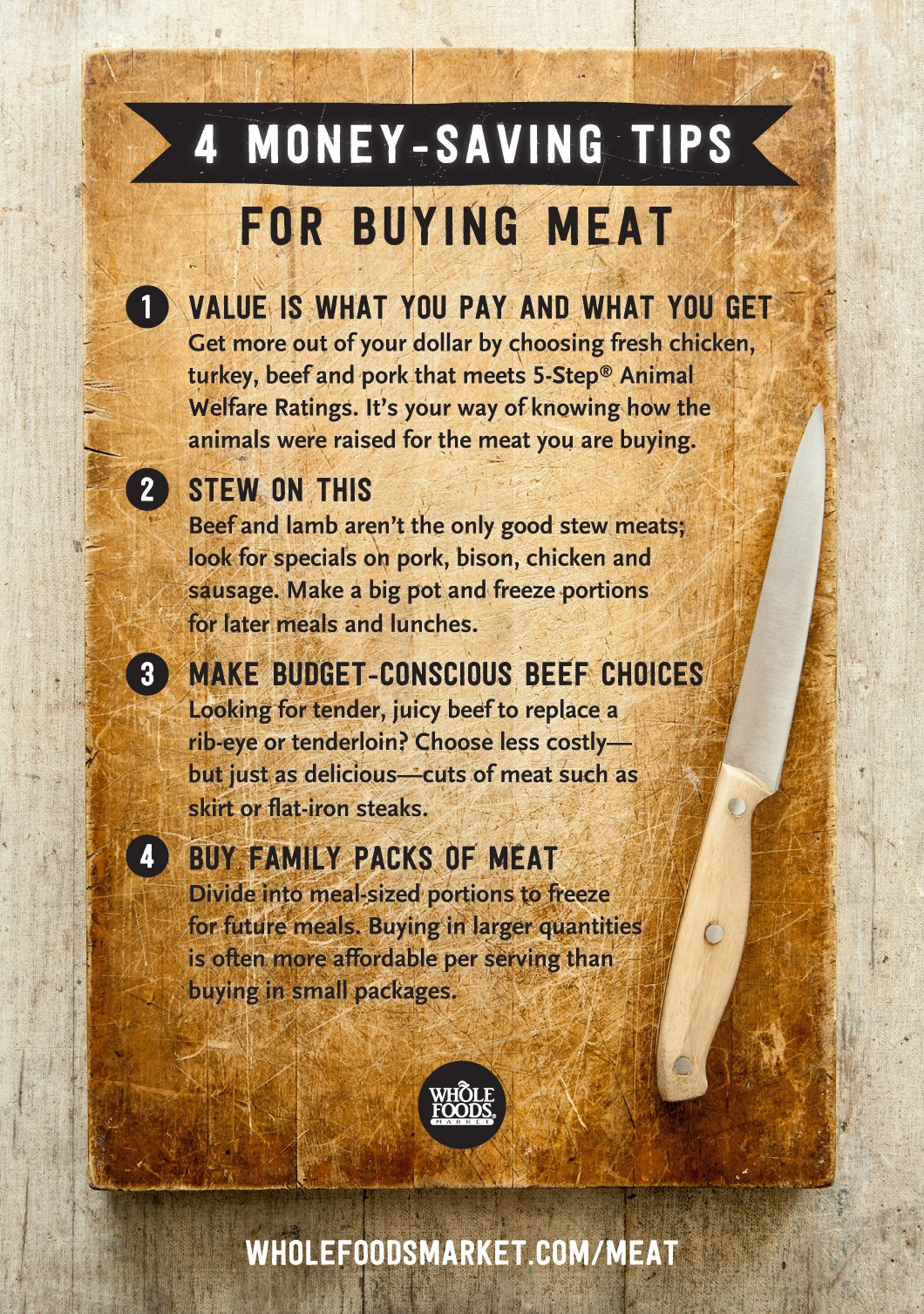 Money Saving Tips For Meat Whole Foods Market